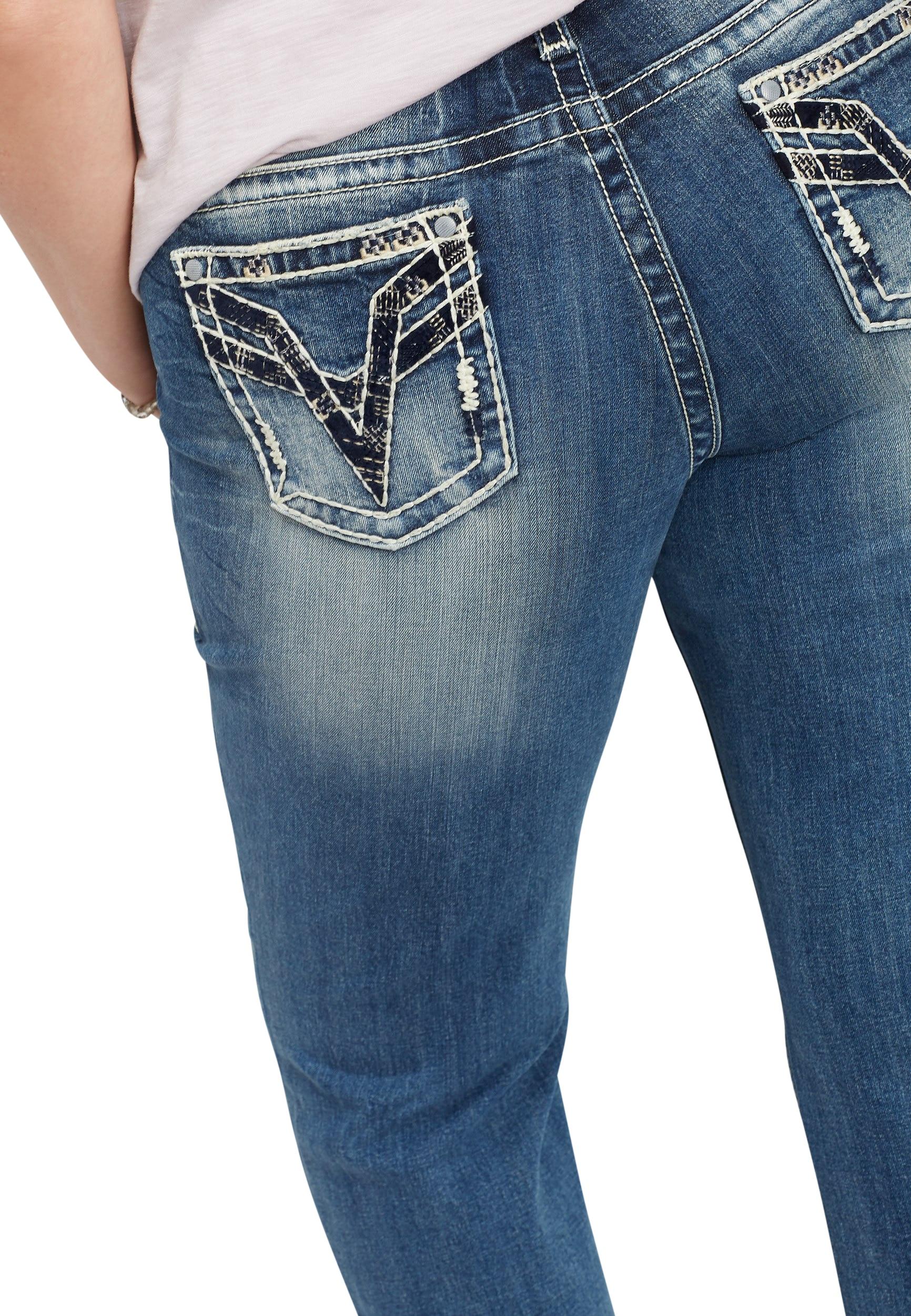 Vigoss - Plus Size Vigoss Thick Stitch Boot Cut Jean - Walmart.com