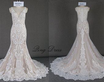 Lace wedding dress | Etsy
