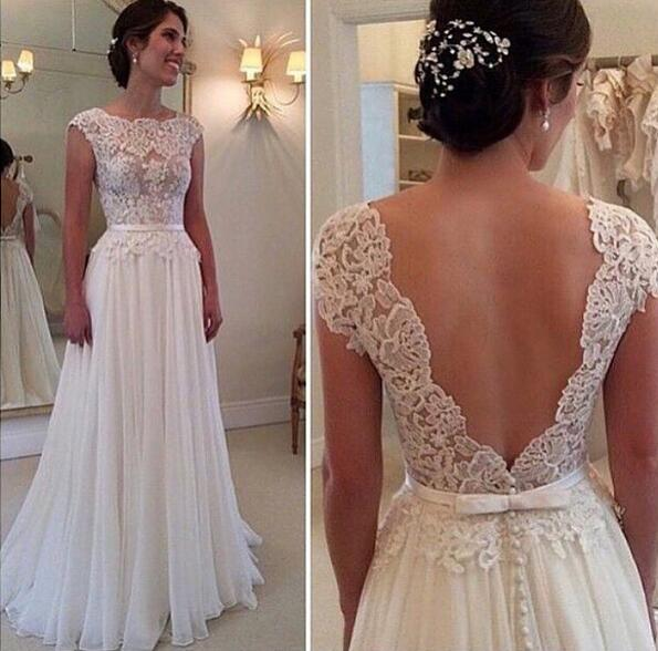 Beautiful dress for the   beautiful day with perfect dress material: vintage lace wedding dresses