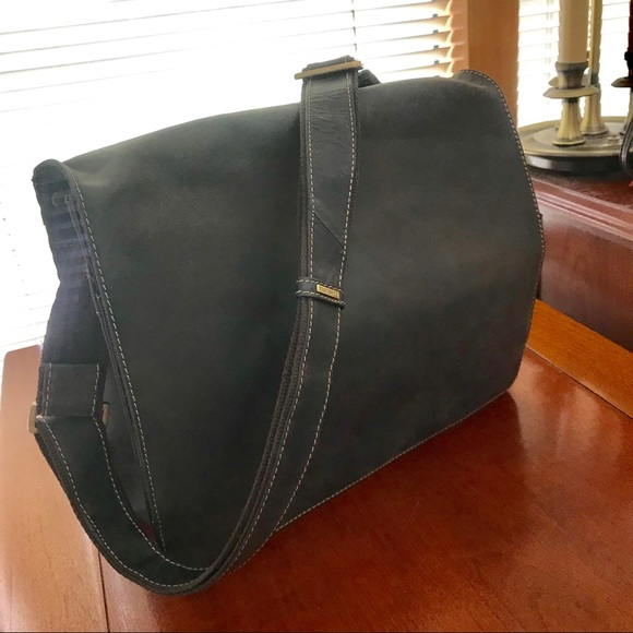 VISCONTI Bags | Distressed Leather Messenger Bag | Poshmark