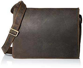 Amazon.com | Visconti Leather Distressed Messenger Bag Harvard