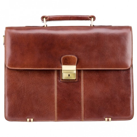 Warwick - Classic Leather Briefcase - Visconti Bags