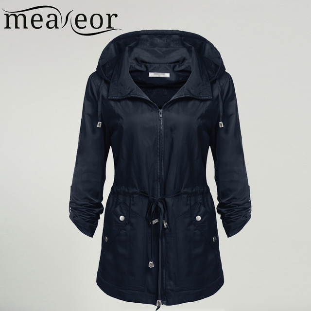Meaneor Waterproof Jacket Women Windproof Traveling Detachable