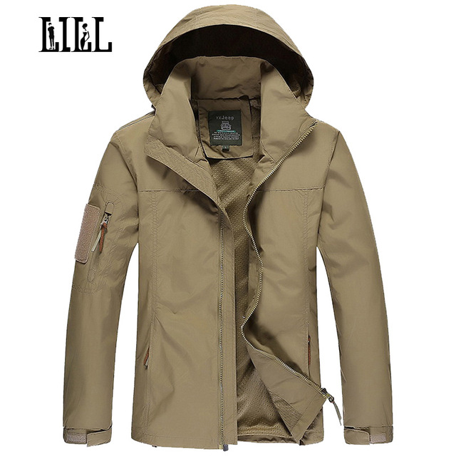 LILL | Mens Military Waterproof Jacket Coat Men Spring Army Style