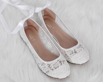 Wedding flat shoes | Etsy