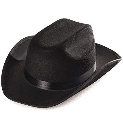 Amazon.com: Funny Party Hats Black Cowboy Hat - Cowboy Hats