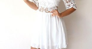 White Off The Shoulder 2018 Graduation Dresses For 8th Grade Lace