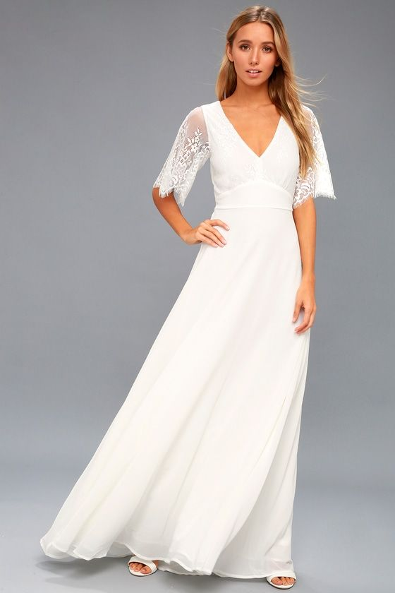 Daphne White Lace Maxi Dress | wedding | Pinterest | White lace maxi