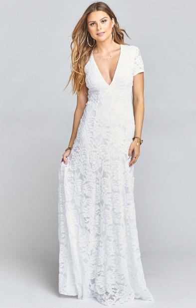 Eleanor Maxi Dress ~ Lovers Lace White | Show Me Your MuMu
