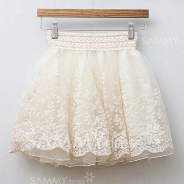 skirt, vintage, vintage lace, short skirt, cute, white lace skirt