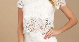 Sexy Lace Skirt - White Lace Skirt - Lace Mini Skirt - $31.00