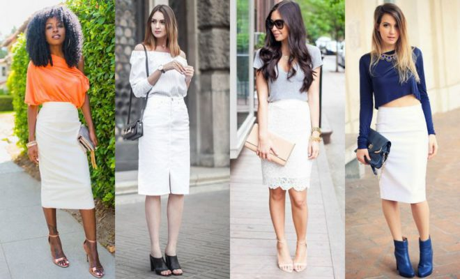 18 Ideas For A Beautiful White Pencil Skirt Outfit | Style & Tips