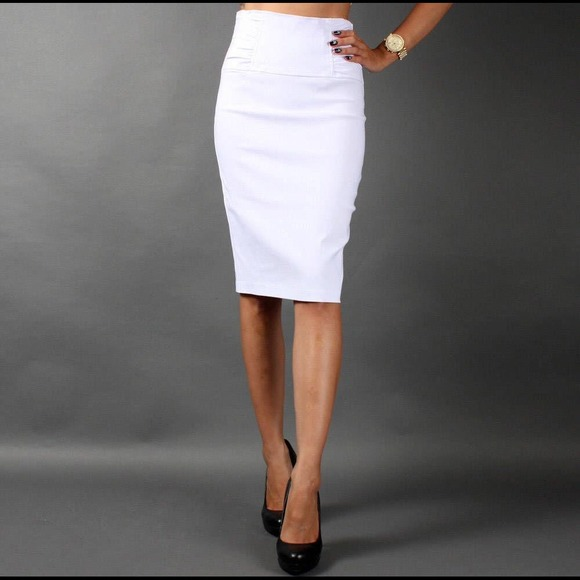 Charlotte Russe Skirts | Sold Mercari Classy White Pencil Skirt