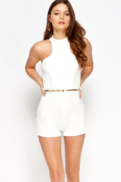 Petite White Playsuit - Just £5