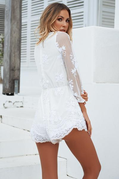 White playsuit designs to look   hot and trendy