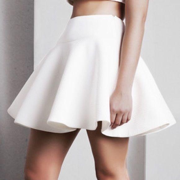 White skater skirt This beautiful clean white skater skirt is