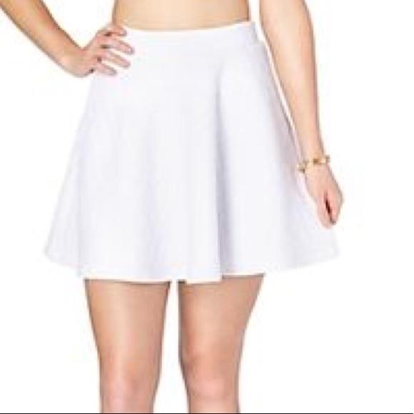 Rue21 Skirts   White Skater Skirt Rue 21   Poshmark