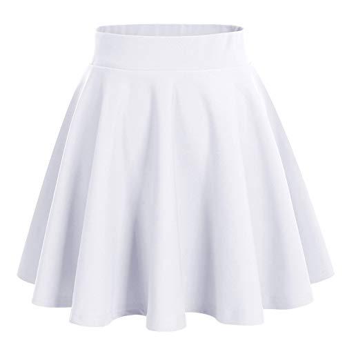 White Skater Skirt: Amazon.co.uk