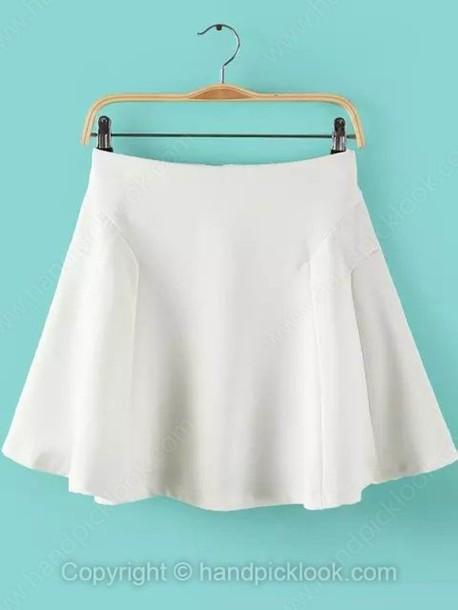 skirt, white, skater, skater skirt, skater skirt, white skater skirt