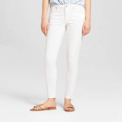 Women's Mid-Rise Skinny Jeans - Universal Thread™ White : Target