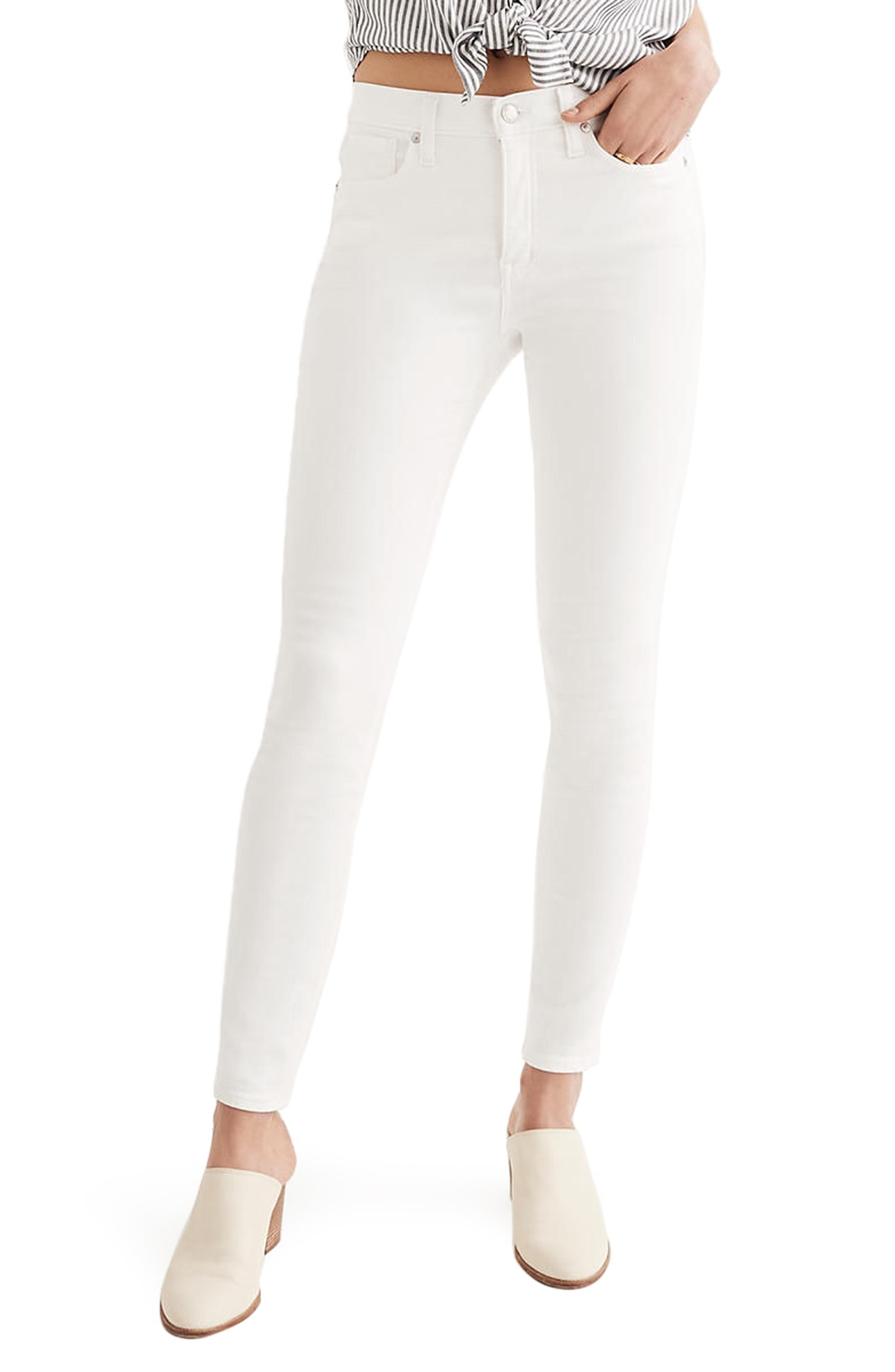 Make your unique style by   wearing white skinny jeans