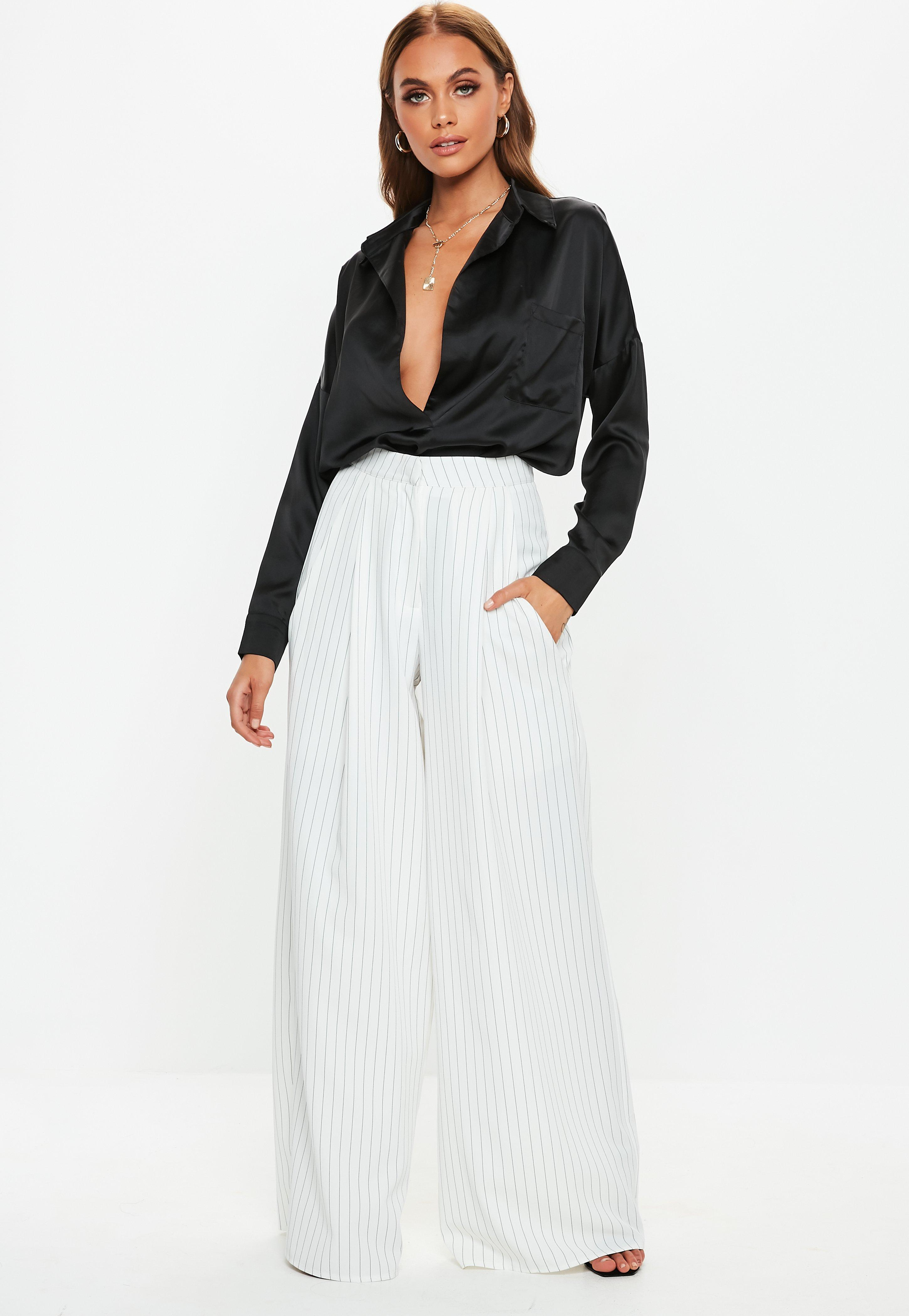 Wide Leg Trousers | Palazzo & Loose Trousers - Missguided