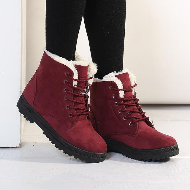 Fashion Warm Snow Boots 2018 Heels Winter Boots New Arrival Women