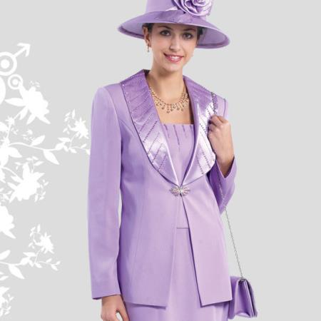 Lady Church Suits New Lynda's Classic Elegance Rose Women Church 3