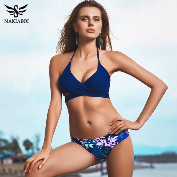 Buy Sexy Cross Brazilian Bikinis Women Swimwear Swimsuit Push Up