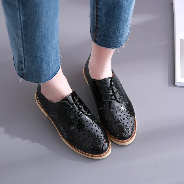 Key Account Summer British Retro Women Flats Comfortable Women