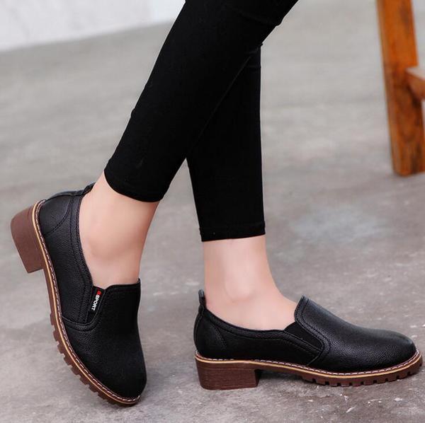 ed42c3a2bafe14 Shoes - 2018 Women's Genuine Leather Oxford Shoes u2013 Kaaum