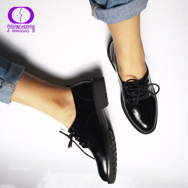 Flats British Style Oxford Shoes Women Spring Soft Leather Oxfords