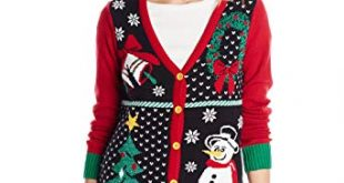 Ugly Christmas Sweater Women's Button-Front Christmas Cardigan