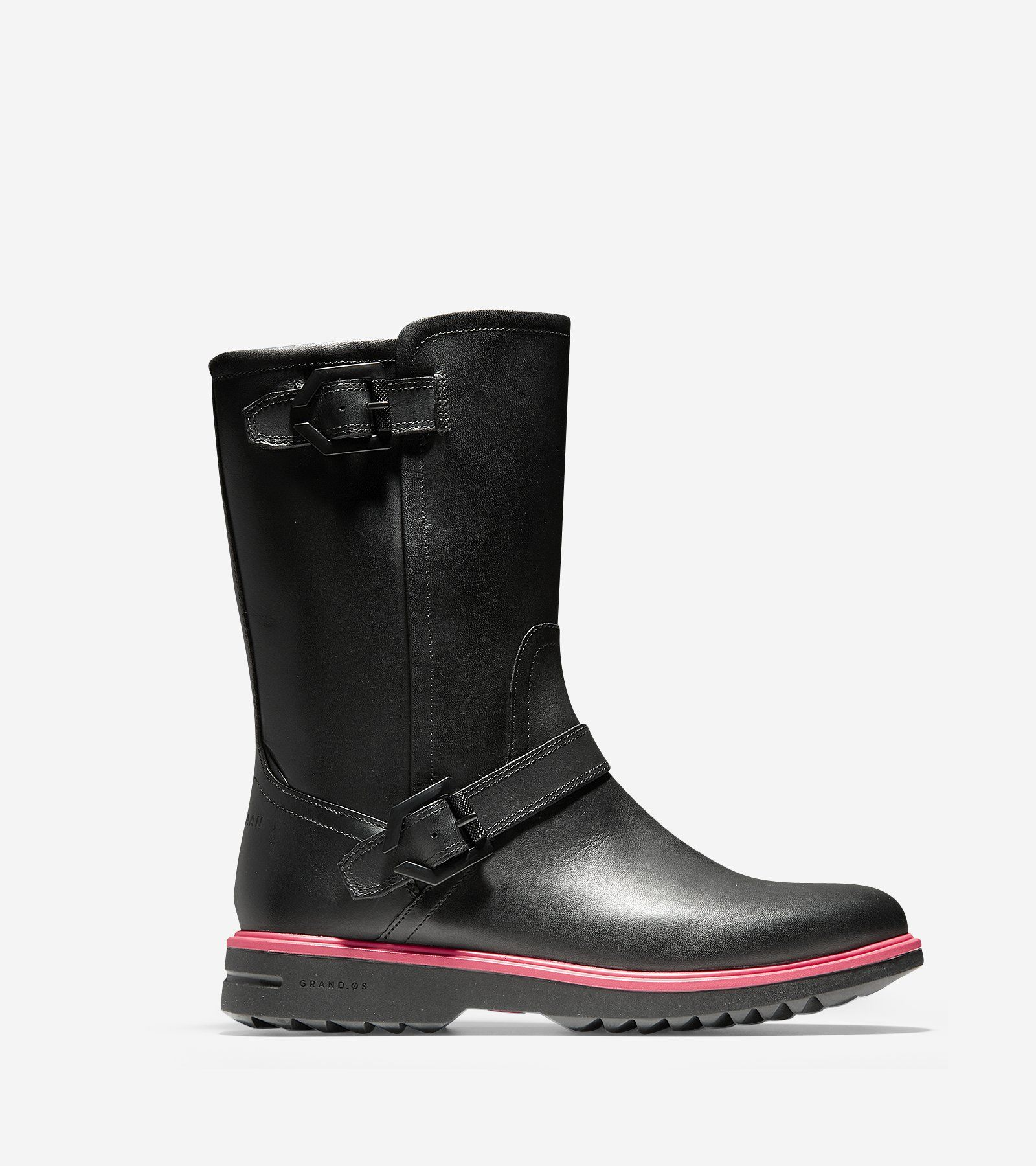 Women's Millbridge Waterproof Moto Boots in Black | Cole Haan