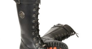 Milwaukee Leather Ladies Tall Lace-Up Motorcycle Boots