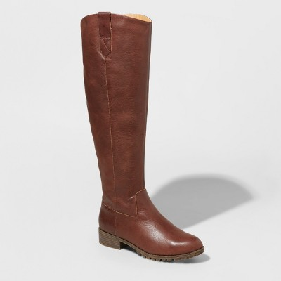 Women's Monica Leather Riding Boots - Universal Thread™ : Target