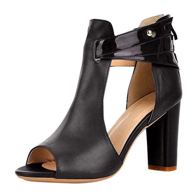 Amazon.com: Womens Wedges Dress Sandals 5-9 Fish Head Leather