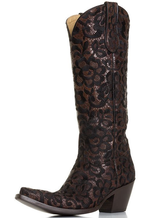 Corral Women's Western Floral Lace Cowboy Boots