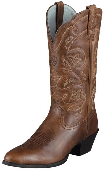 Ariat Women's Heritage Western R Toe Cowboy Boots - Russet Rebel