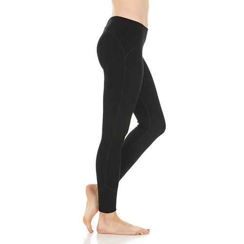 Woolverino Women's Midweight Leggings, Black - Style #5300
