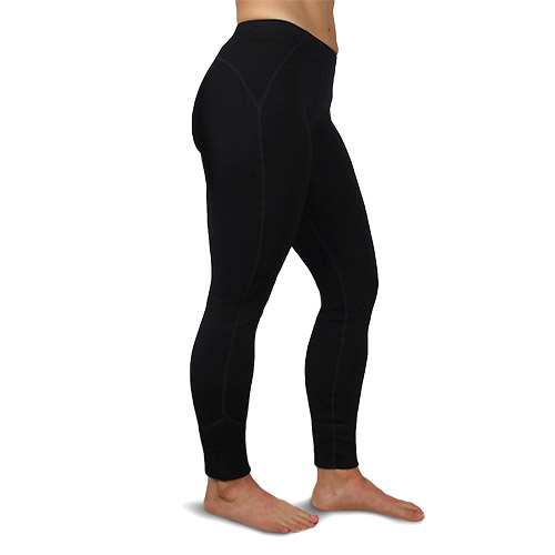 Juneau Women's Expedition Wool Leggings, Black - Style #8100