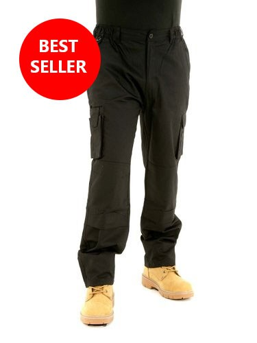 Mens Combat Cargo BKS Work Trousers With knee pad pockets