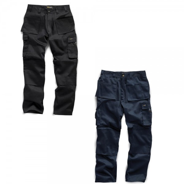 Workwear | Mens Heavy Duty Work Trousers - Black & Navy