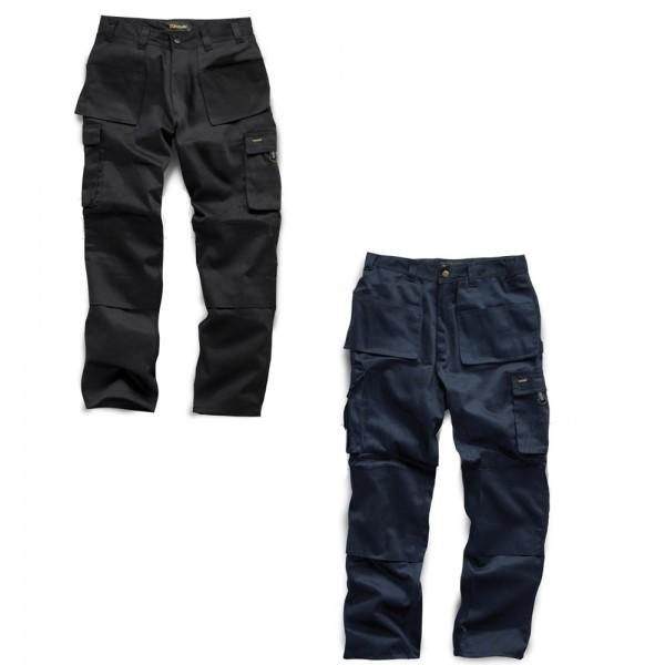 Workwear | Mens Heavy Duty Work Trousers - Black & Navy