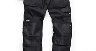 Scruffs Ripstop Trade Hardwearing Black Work Trousers with Multiple