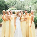 Yellow Bridesmaid Dress to   celebrate weddings