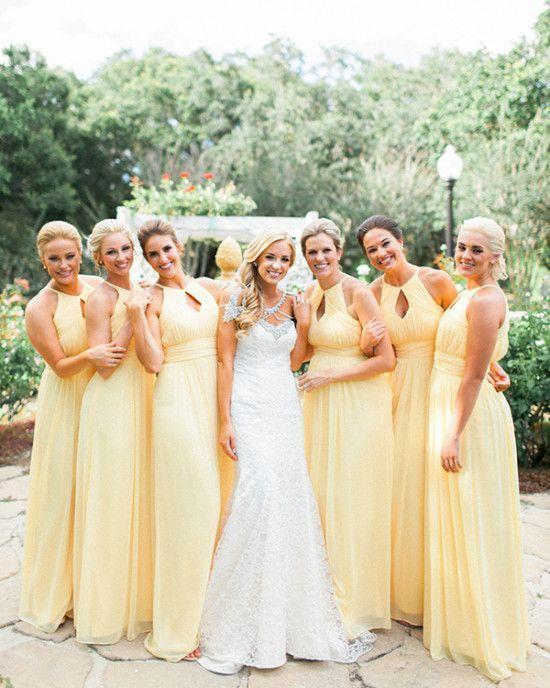 Yellow Bridesmaid Dress to   celebrate weddings