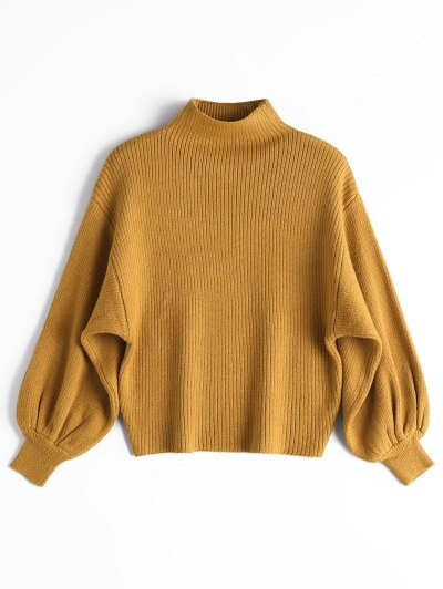 Yellow sweater give you a   charm this winter