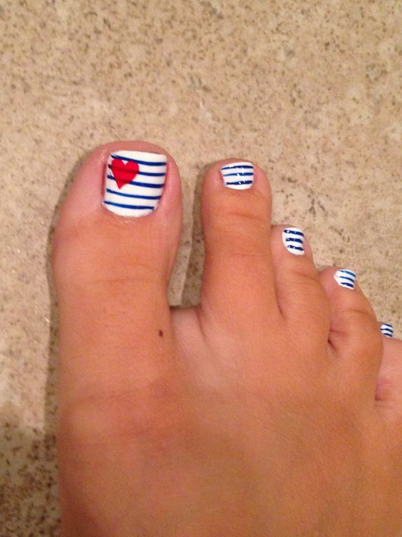 Fourth of July Toe Nail Designs for Summer | Gel toe nails, Toe .
