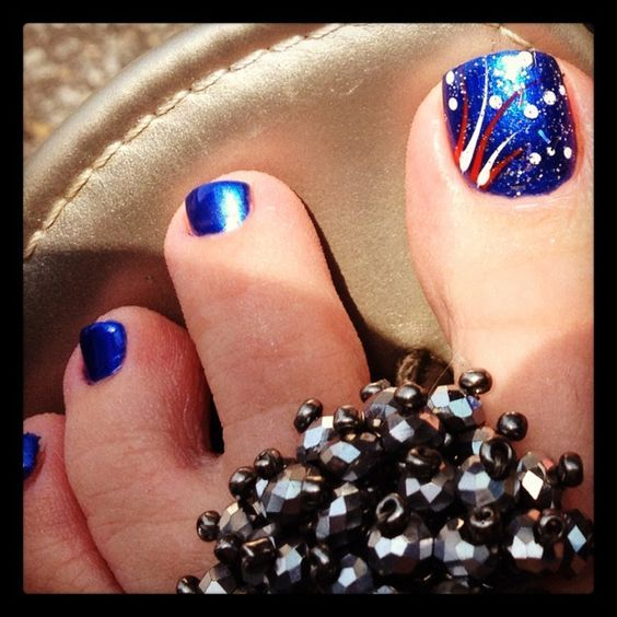 Fourth of July Toe Nail Designs for Summer | Toe nail designs .
